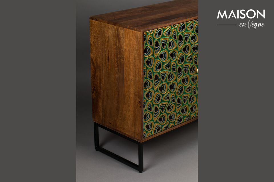 It offers a beautiful storage space with a unique stylish look, which makes it a real work of art