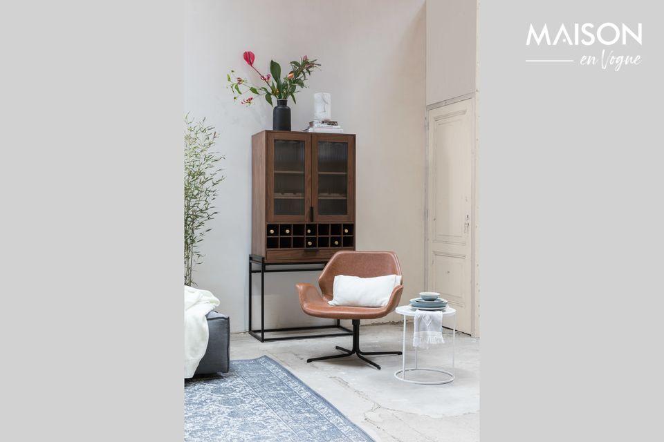 Elegant PU leather lounge chair