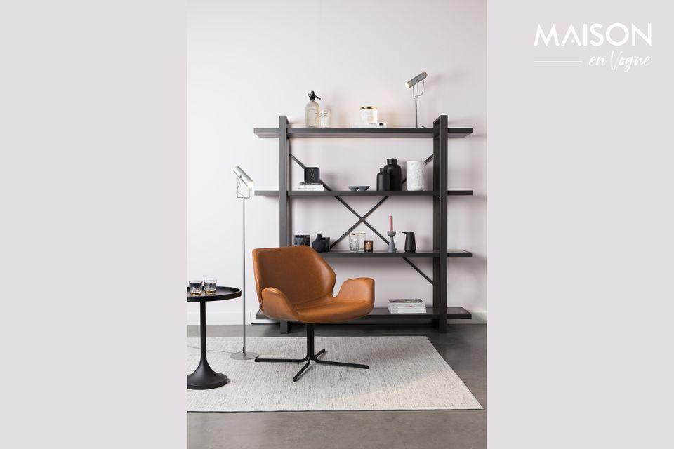nikki Lounge chair brown Zuiver