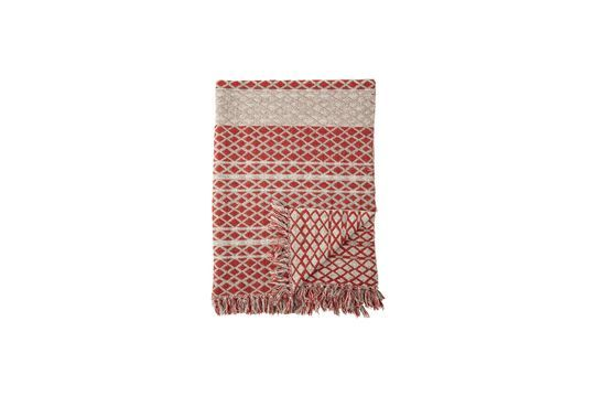 Noilhan plaid in red recycled cotton Clipped