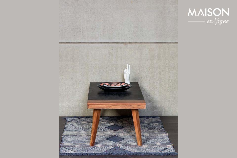 Acacia two-tone coffee table