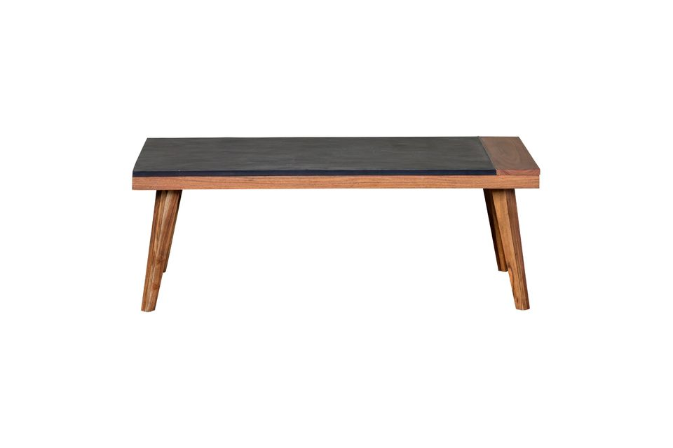 It will bring a touch of design to your living room with its thick two-tone beige and dark blue top