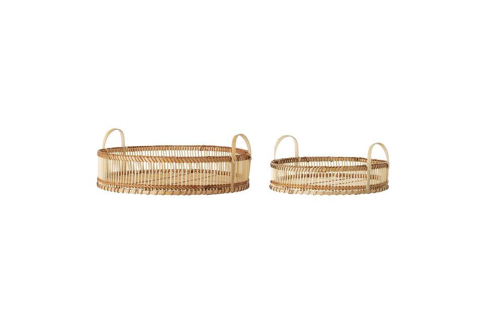 Pure and practical bamboo trays