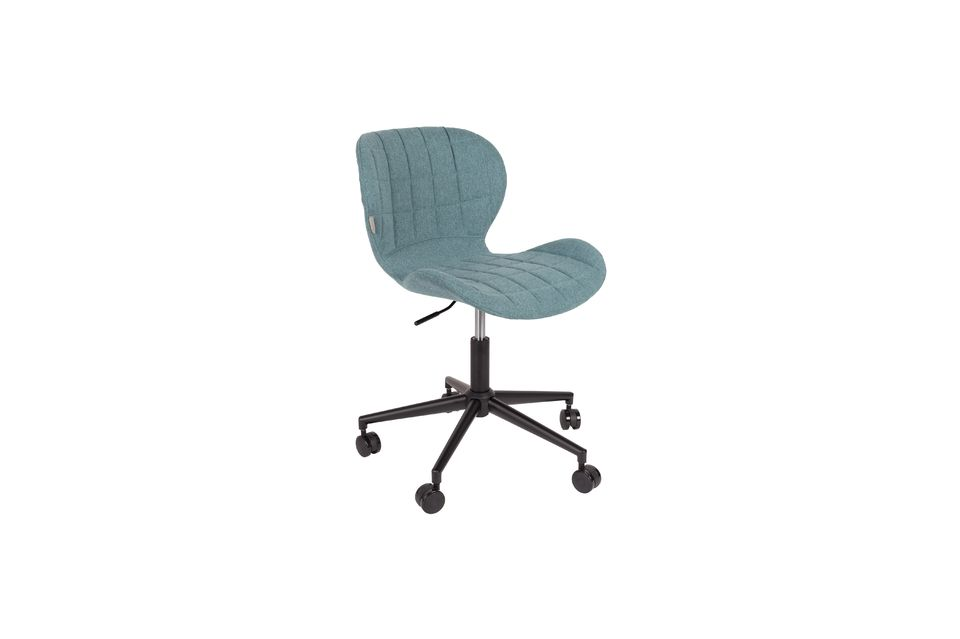 OMG Office chair black and blue Zuiver