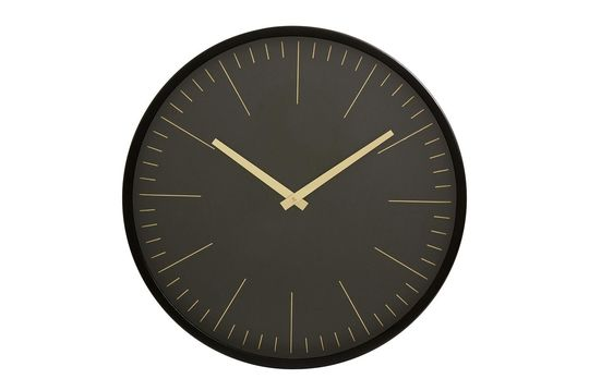Onyx Wall clock black and gold Clipped