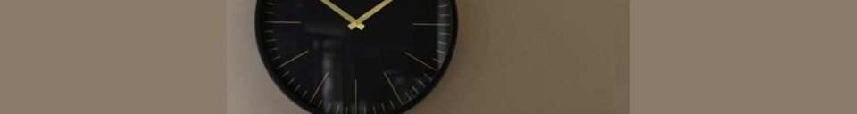 Material Details Onyx Wall clock black and gold