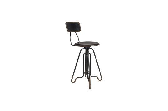 Ovid black Bar stool Clipped