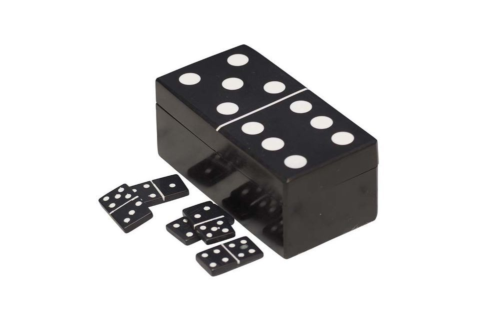 This domino box, shaped like a