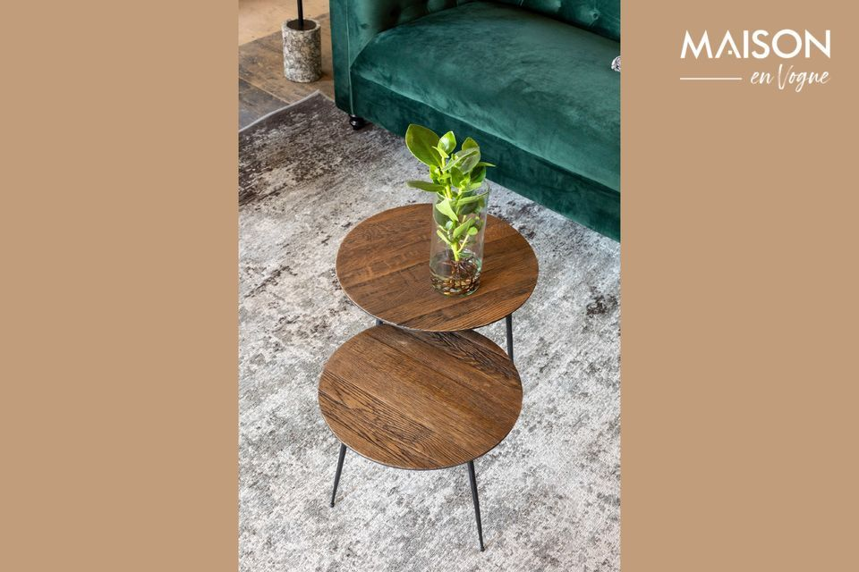 Peper brown Side table 40 cm