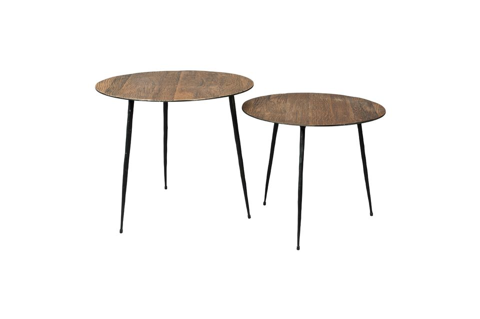 Peper brown Side table 40 cm - 7