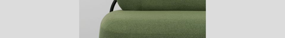 Material Details Polly Green sofa