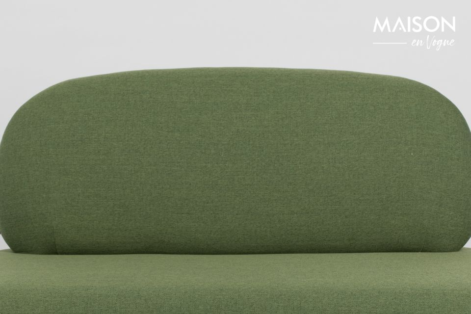 The green Polly sofa is perfect to furnish your living room in Scandinavian style