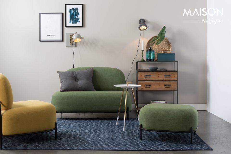 Polly Green sofa White Label