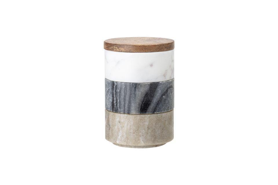 Pozières Jar with lid Bloomingville