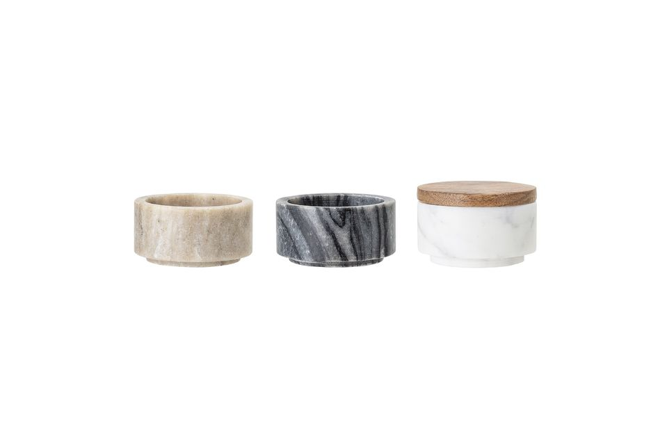 These three marble jars in different colours are a must for your kitchen