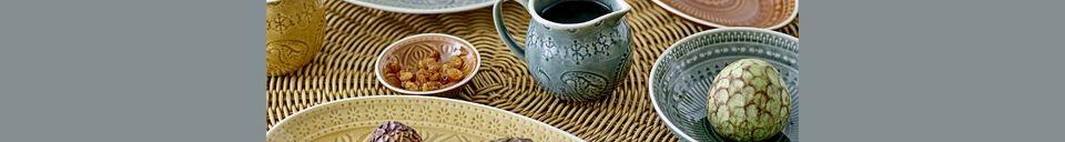 Material Details Rani Green bowl in stoneware