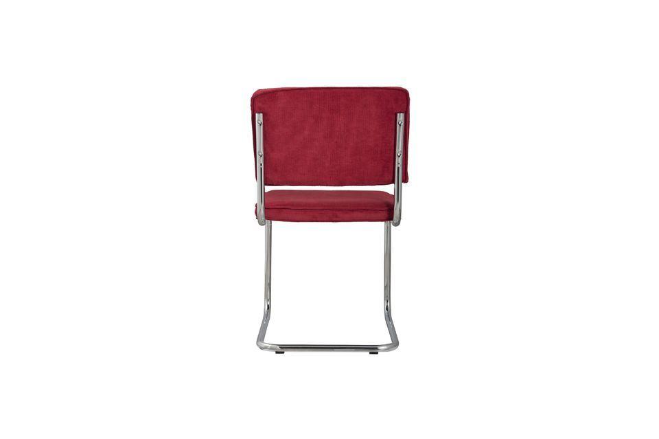 Ridge Rib Red Chair - 6
