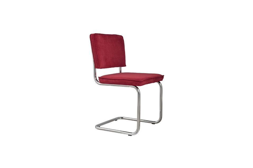Ridge Rib Red Chair Zuiver