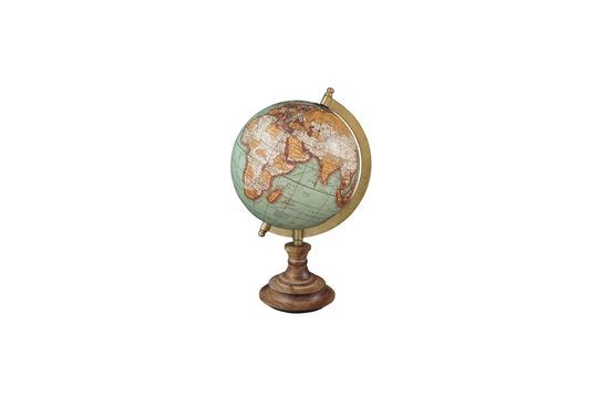 Riverie world map vintage wood base Clipped