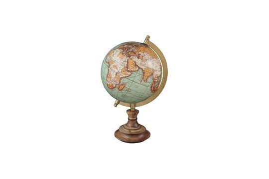 Riverie world map vintage wood base