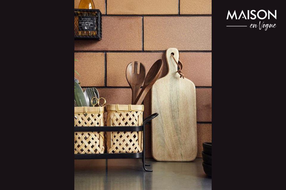 Natural color bamboo basket holder