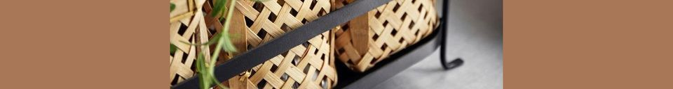 Material Details Rodern Bamboo Basket Holder