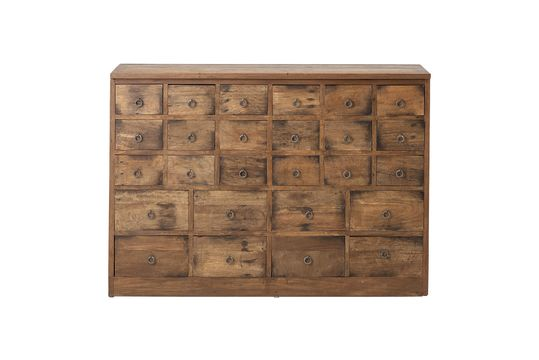 Roilly Recycled Brown Wood Chest of Drawers Clipped