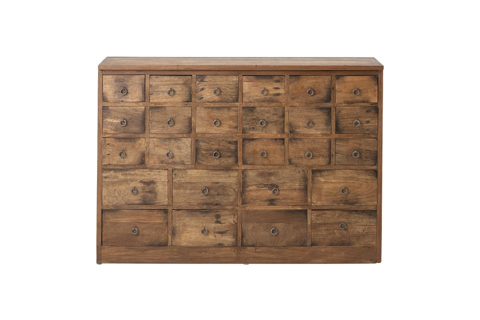 Roilly Recycled Brown Wood Chest of Drawers