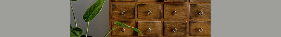 Material Details Roilly Recycled Brown Wood Chest of Drawers