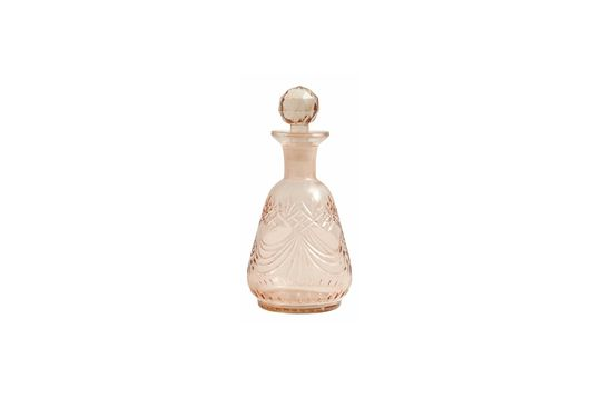 Round hand carved glass decanter
