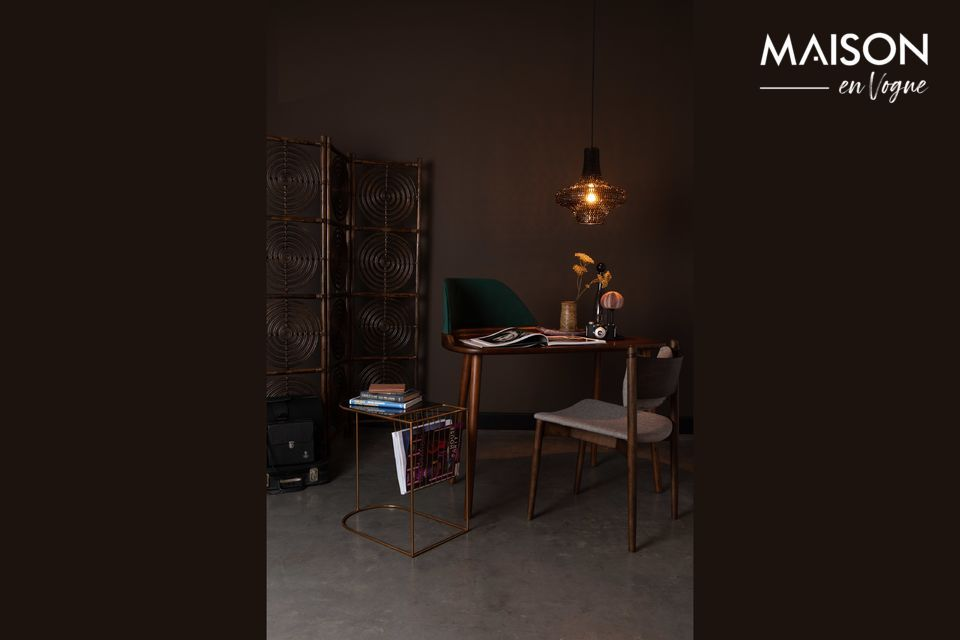 Do you need to create two separate spaces in a room without losing light? This stylish and unusual
