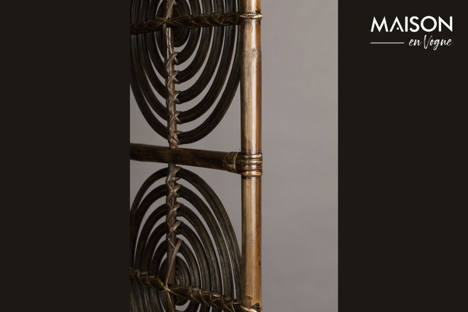 In lacquered rattan