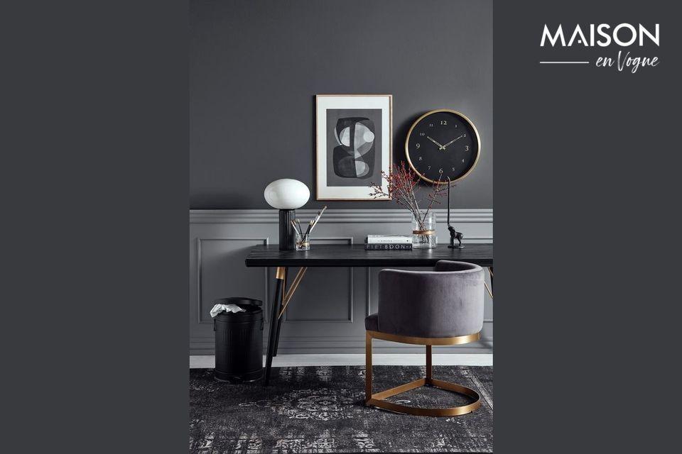Elegant black and gold clock