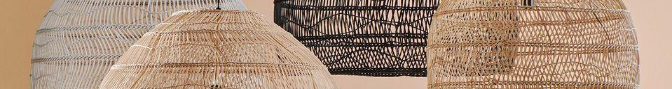 Material Details Sancy black wicker hanging lamp size L