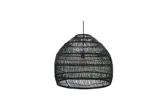 Sancy black wicker hanging lamp size M