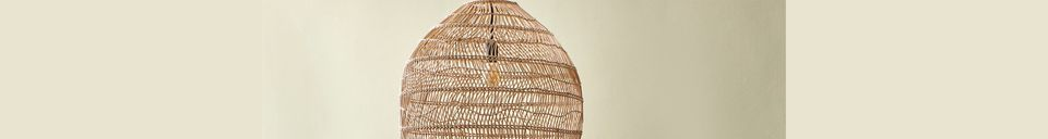 Material Details Sancy natural wicker hanging lamp size M