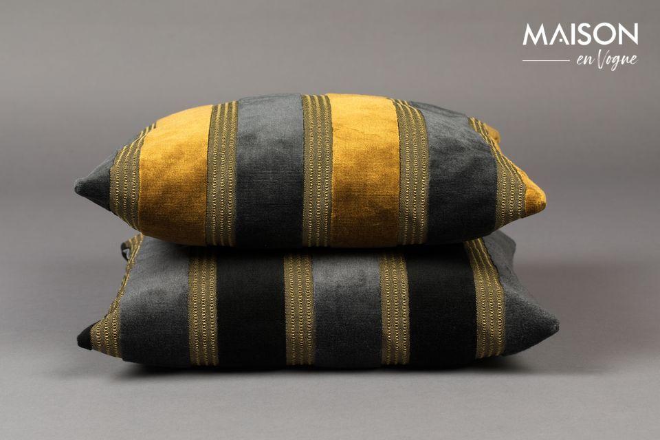 Scott yellow and grey cushion Dutch Bone