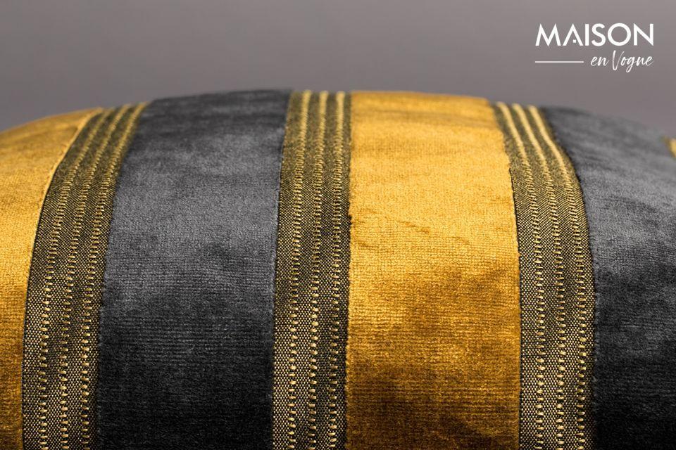Scott yellow and grey cushion - 4