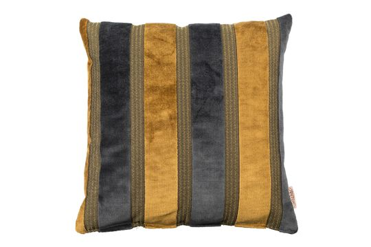 Scott yellow and grey cushion Clipped