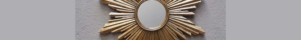 Material Details Segrois sun mirror in golden resin