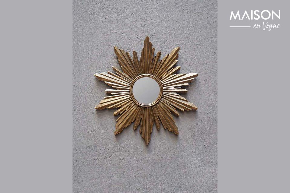 Segrois sun mirror in golden resin