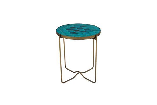 Séguret blue ceramic scales side table Clipped