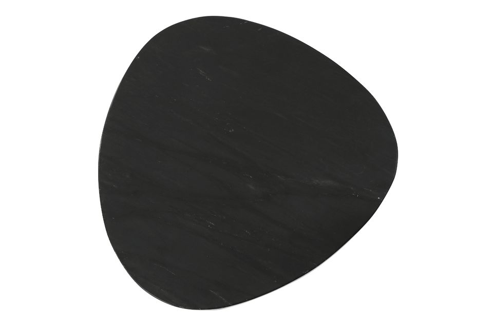 Set consisting of 3 black marble side tables