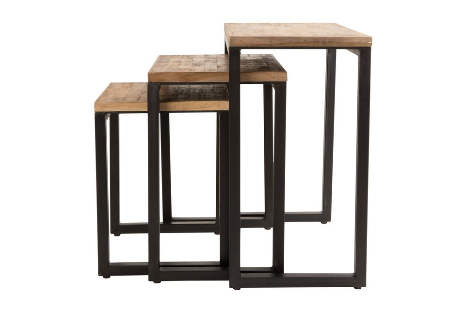 Set of 3 Suri side tables - 6