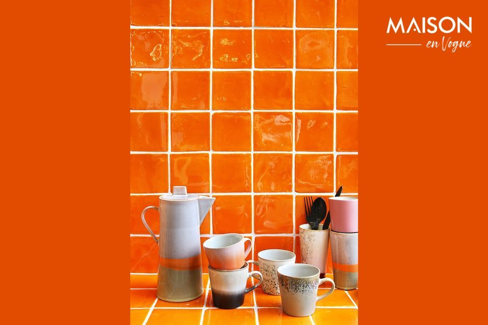 A set of 4 Americano mugs in assorted colours