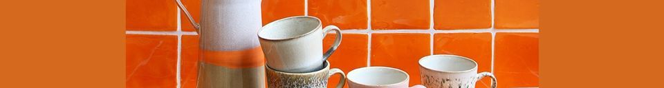 Material Details Set of 4 Americano ceramic mugs 70's