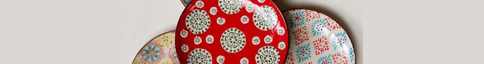 Material Details Set of 4 Bohemian ceramic plates