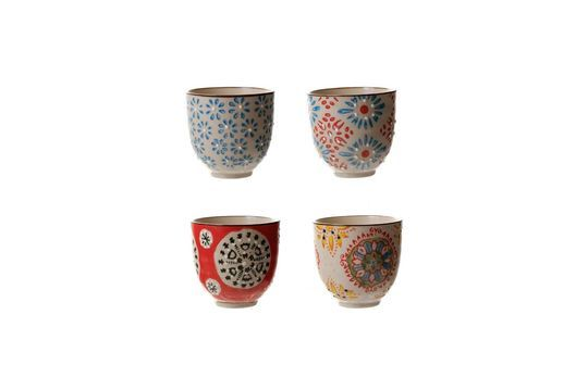 Set of 4 Bohemian espresso cups