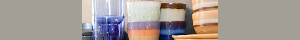 Material Details Set of 4 medium 70's ceramic bowls