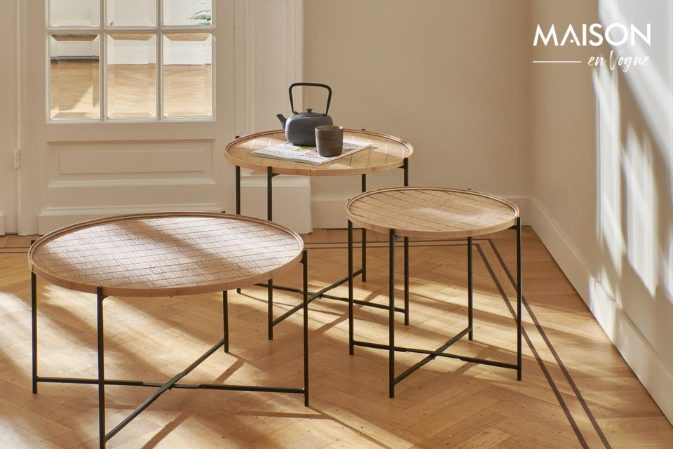 Its design retains the natural charm of bamboo in a refined and very authentic style